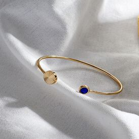 Damen Armreif Vergoldet Blauer Synthetischer Stein - Armreifen Damen | Oro Vivo