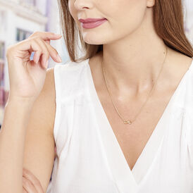 Damen Halskette Vergoldet Infinity - Ketten mit Anhänger Damen   Oro Vivo