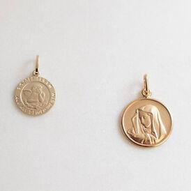 Unisex Anhänger Gold 375 Jungfrau Maria - Personalisierte Geschenke Unisex | Oro Vivo
