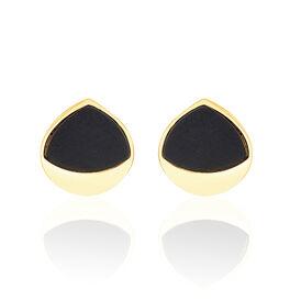 Damen Ohrstecker Gold 375 Onyx - Black Friday Damen | Oro Vivo