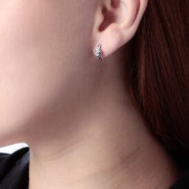 Damen Ohrstecker Weißgold 375 Diamanten 0,086ct - Ohrstecker Damen | Oro Vivo