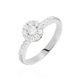 Damenring Weißgold 750 Diamanten 0,5ct - Black Friday Damen | Oro Vivo