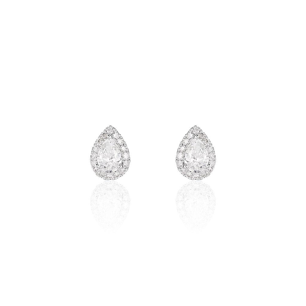 Damen Ohrstecker Weißgold 750 Diamant 0,63ct - Ohrstecker Damen   Oro Vivo