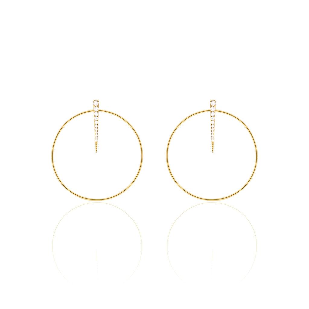 Damen Ohrstecker Lang Silber 925 Vergoldet  - Ohrstecker lang Damen | Oro Vivo