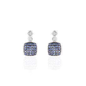 Damen Ohrstecker Weißgold 375 Saphir Diamanten - Ohrstecker  | Oro Vivo