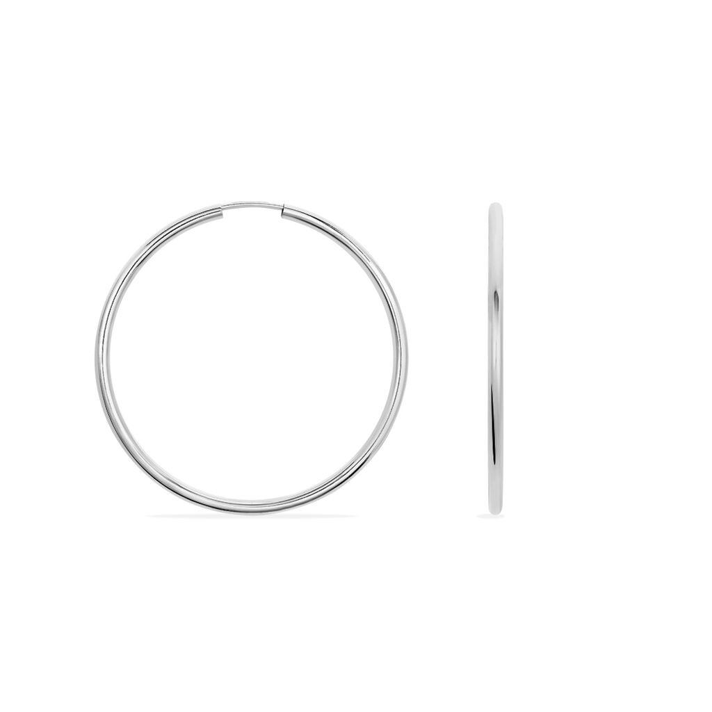 Damen Creolen Silber 925 40mm - Creolen Damen | Oro Vivo