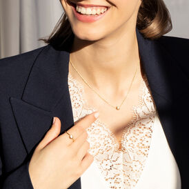 Damen Halskette Silber 925 Vergoldet Zirkonia - Ketten mit Anhänger Familie   Oro Vivo