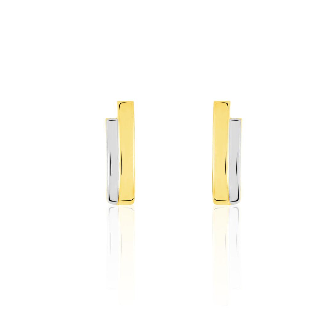 Damen Creolen Gold 333 Bicolor  - Creolen Damen | Oro Vivo