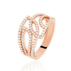 Damenring Silber 925 Rosé Vergoldet Zirkonia - Ringe mit Stein Damen | Oro Vivo