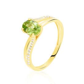 Damenring Gold 375 Peridot Zirkonia - Ringe mit Stein Damen | Oro Vivo