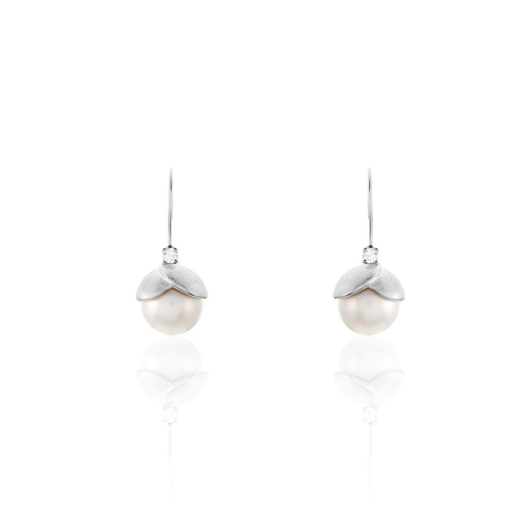 Damen Perlenohrringe Edelstahl Zuchtperlen - Ohrhänger Damen | Oro Vivo