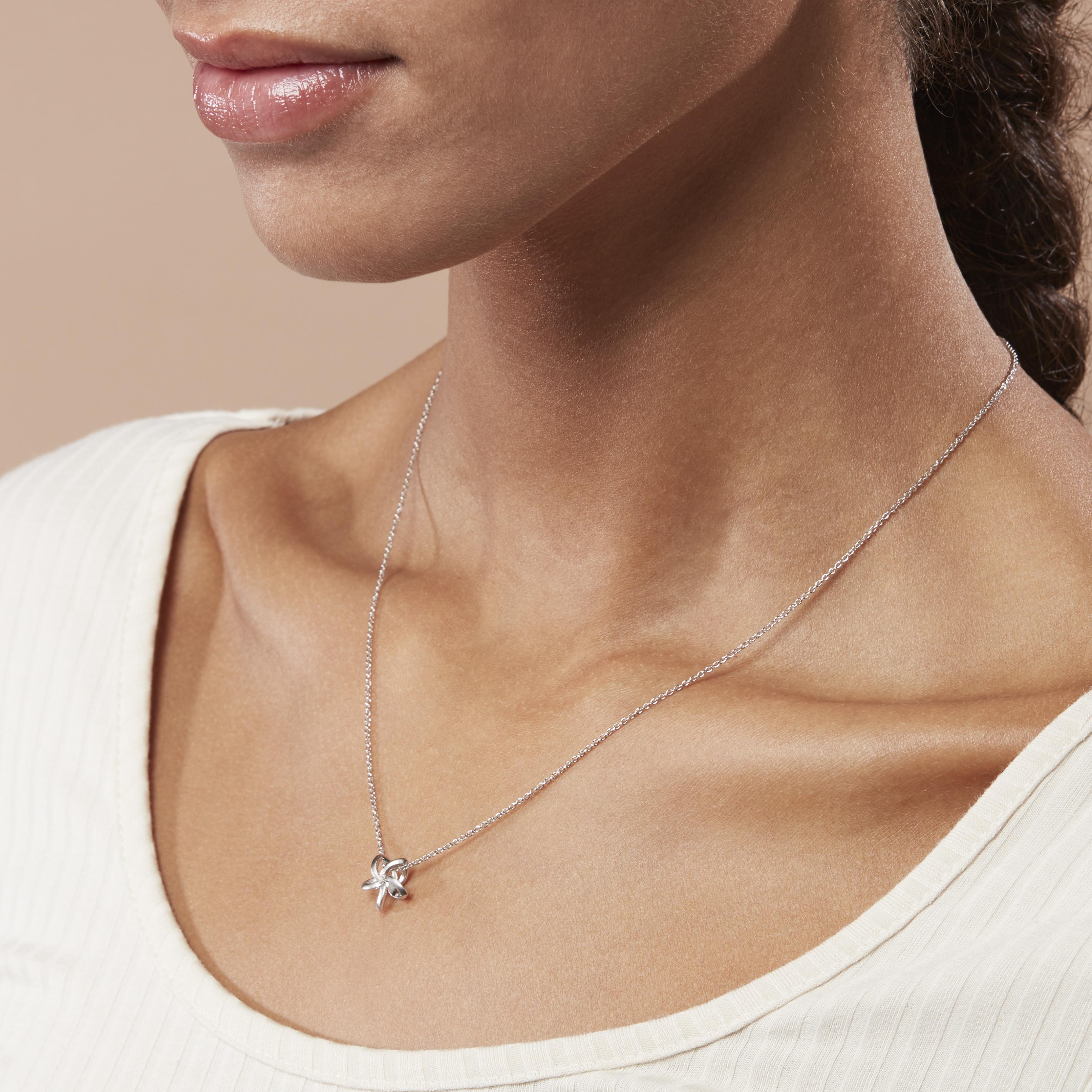Damen Halskette Silber 925 Diamant 0,011ct