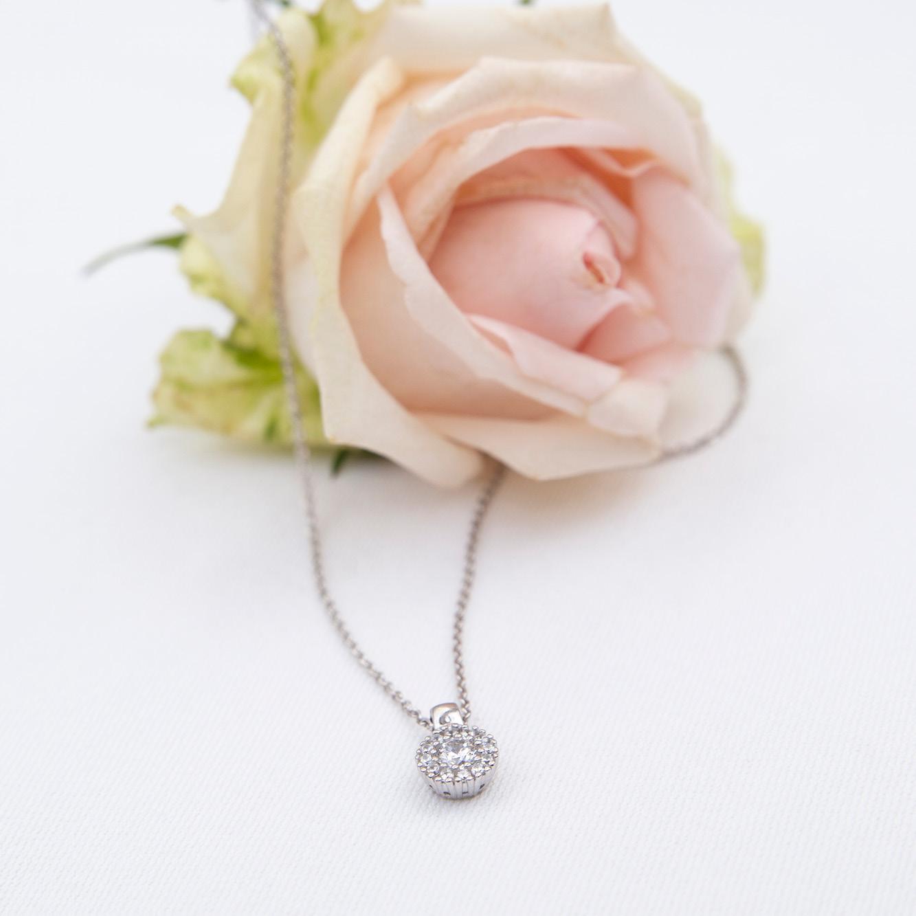 Damen Halskette Silber 925 Zirkonia