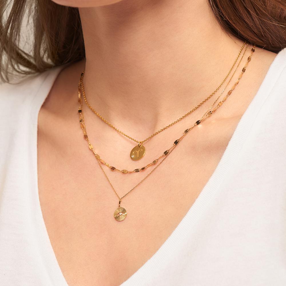 Damen Halskette Gold 375 Diamant 0,015ct