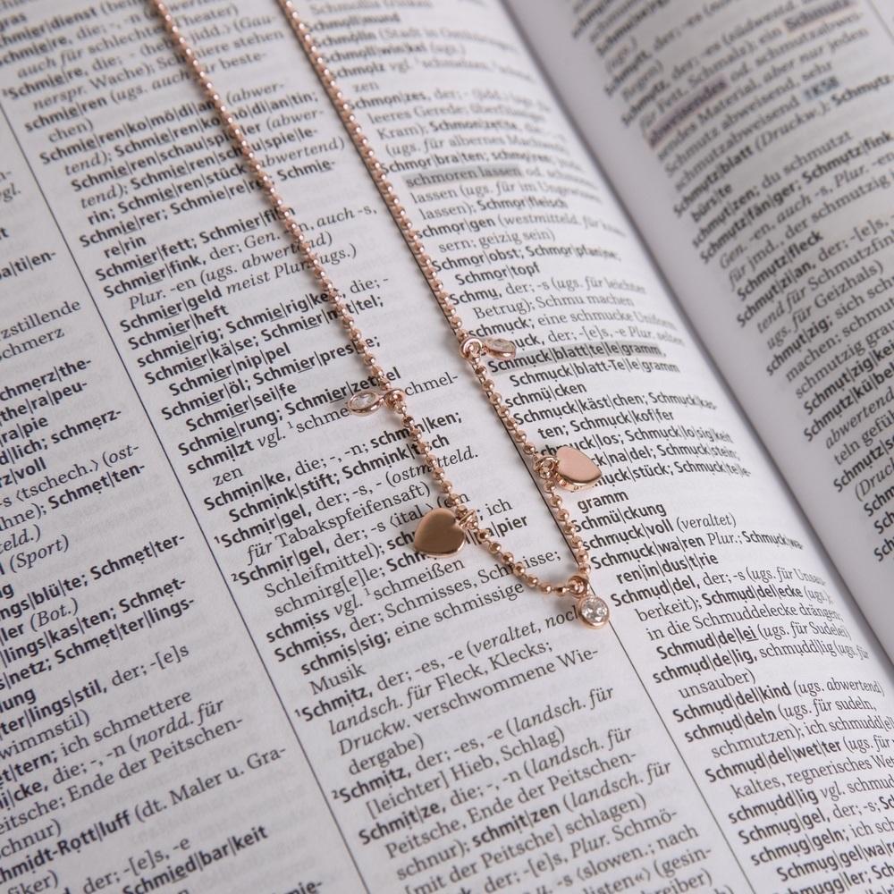 Kinder Halskette Silber 925 Rosé Vergoldet Herz