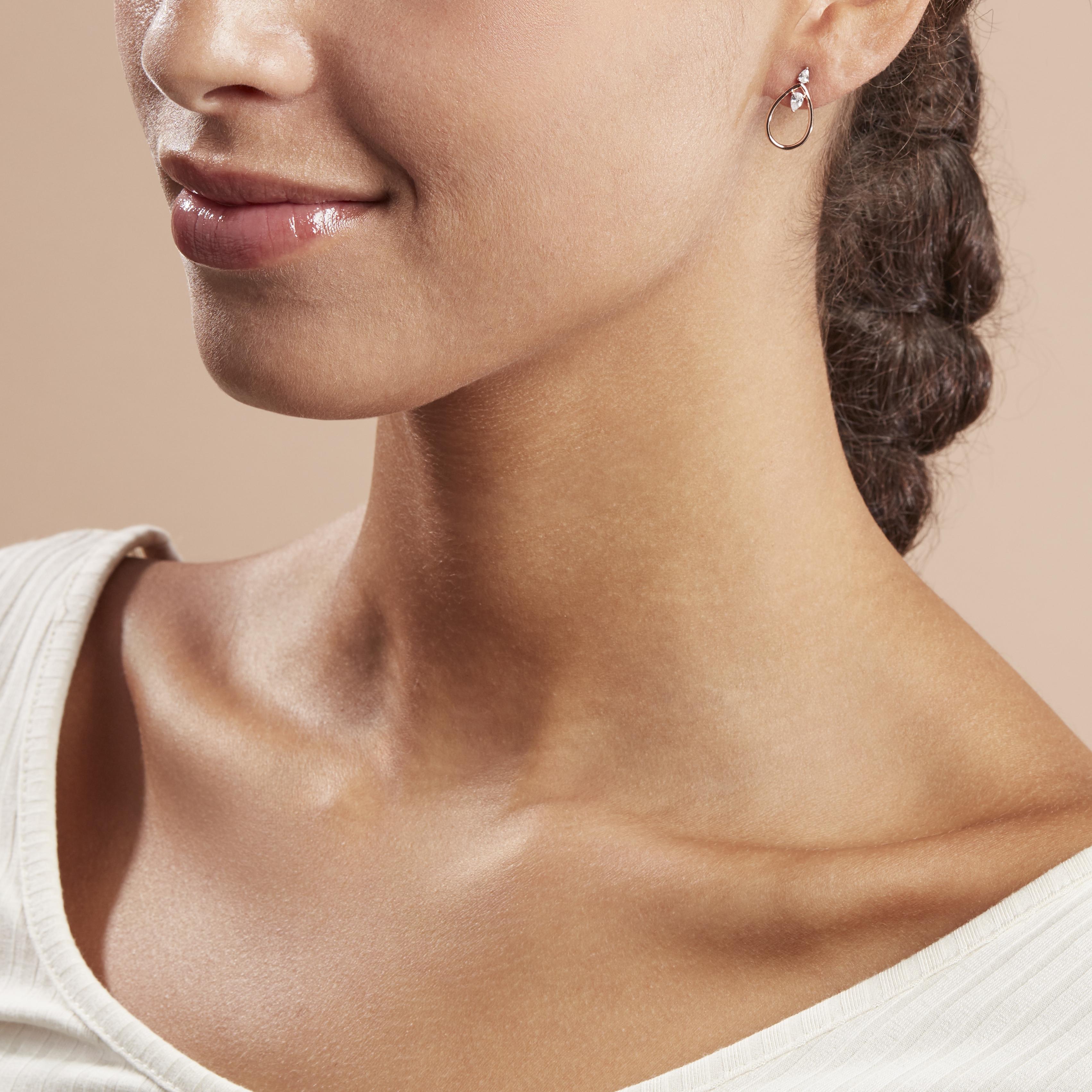 Damen Ohrstecker Silber 925 Rosé Vergoldet