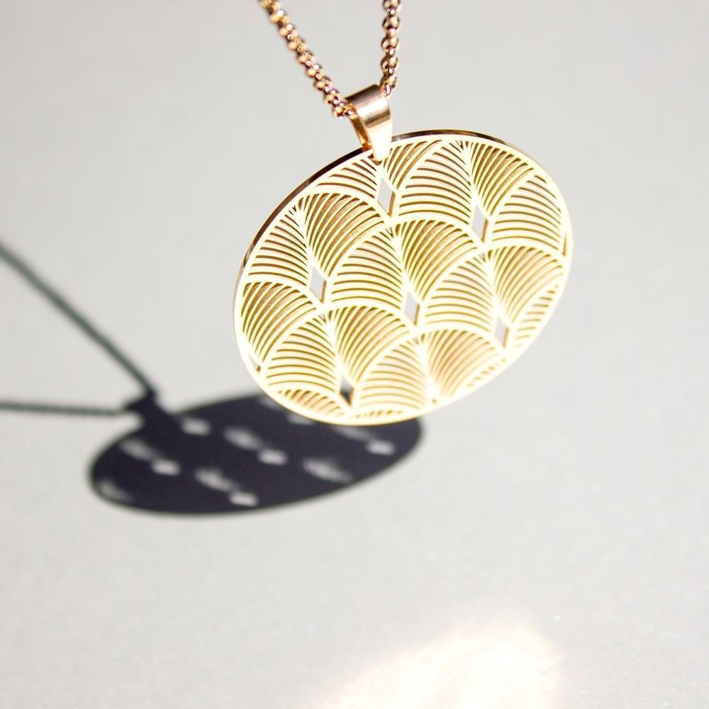 Damen Halskette Edelstahl Rosé Vergoldet