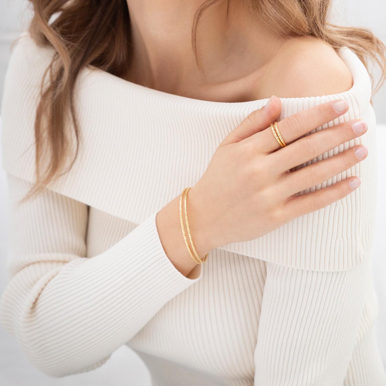 Damen Armreif Silber 925 Vergoldet