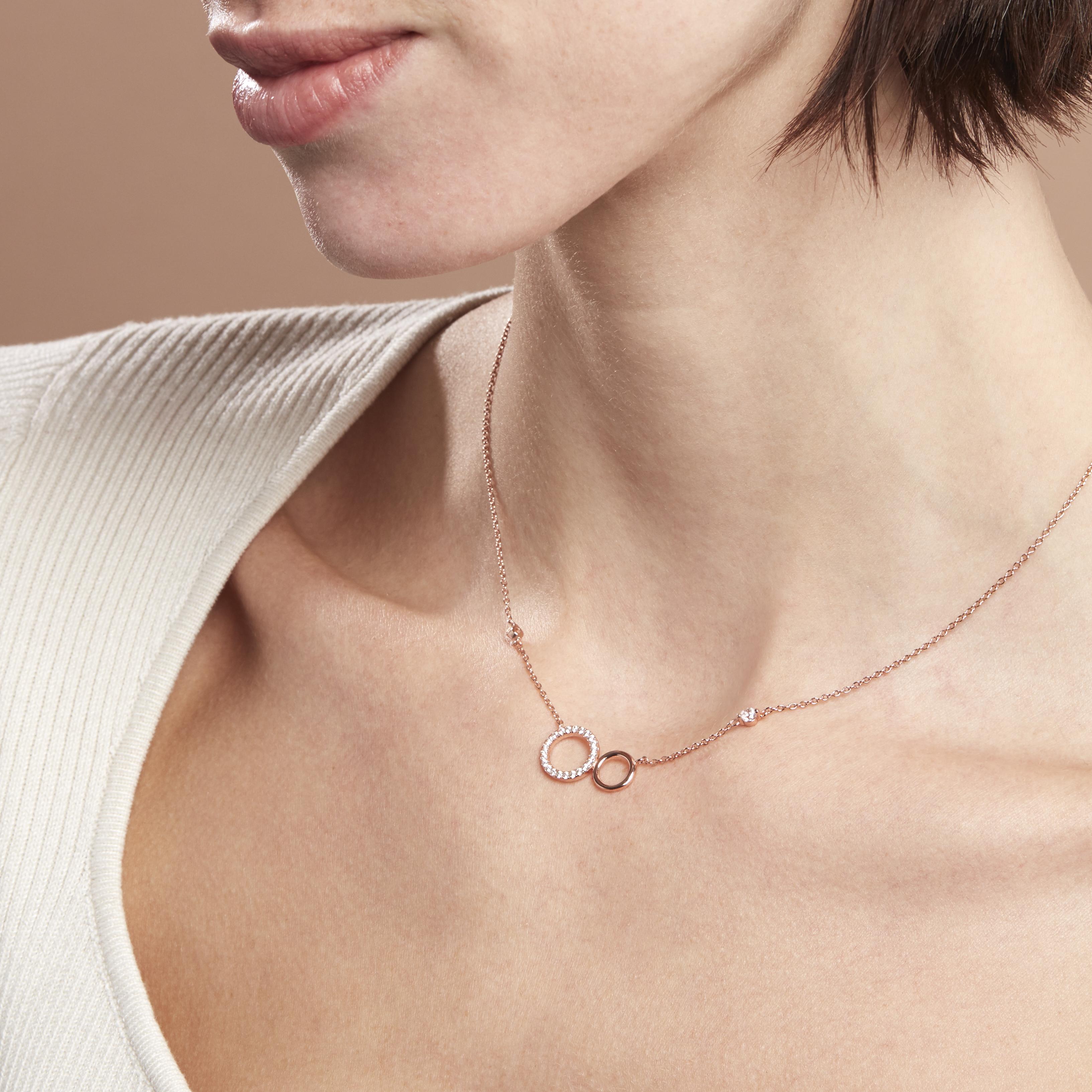 Damen Halskette Silber 925 Rosé Vergoldet