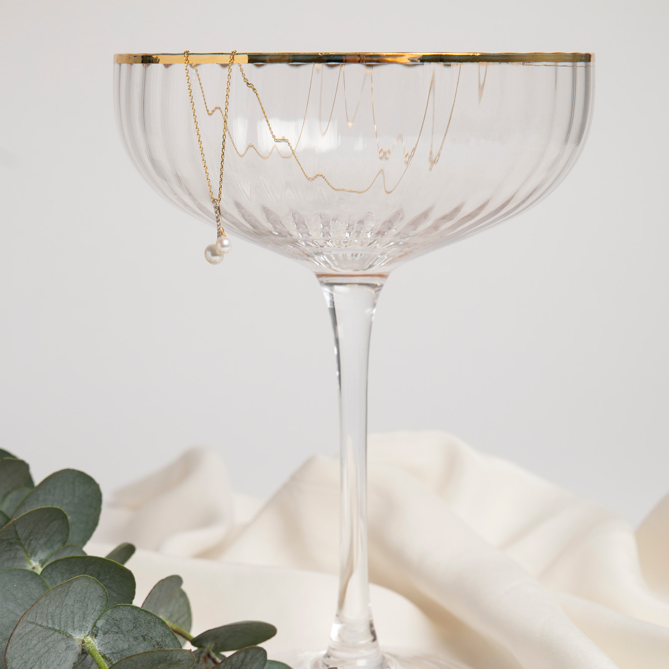 Damen Halskette Gold 375 Zuchtperle Zirkonia